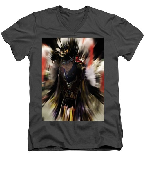 Spirited Dancer Men's V-Neck T-Shirt