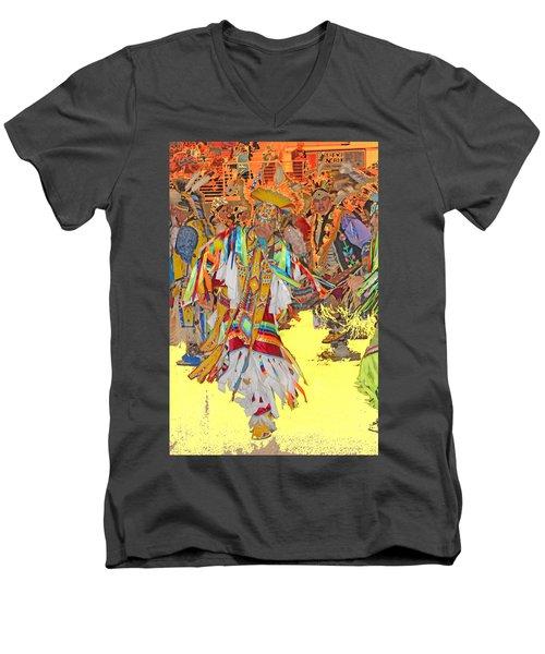 Spirited Moves Men's V-Neck T-Shirt by Audrey Robillard