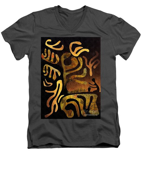 Spiritual Drummer Men's V-Neck T-Shirt by Sarah Loft