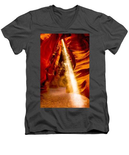 Spirit Light Men's V-Neck T-Shirt by M G Whittingham