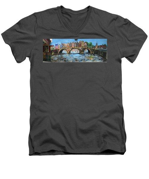 Spiritual Reflections Men's V-Neck T-Shirt by Belinda Low