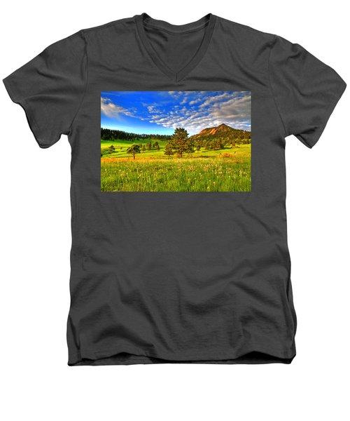Spiritual Sky Men's V-Neck T-Shirt by Scott Mahon