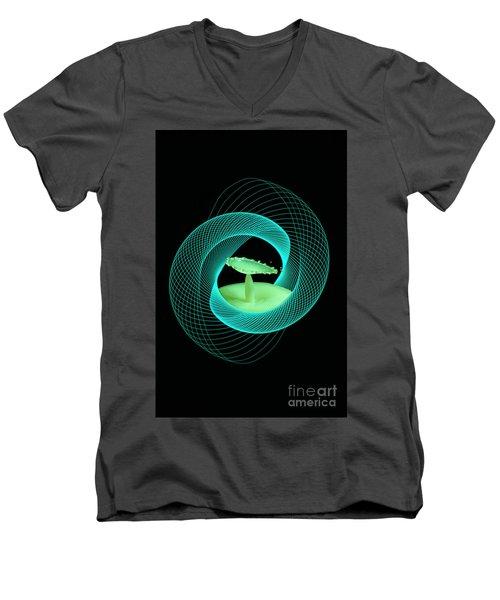 Spirograph Water Drop Men's V-Neck T-Shirt