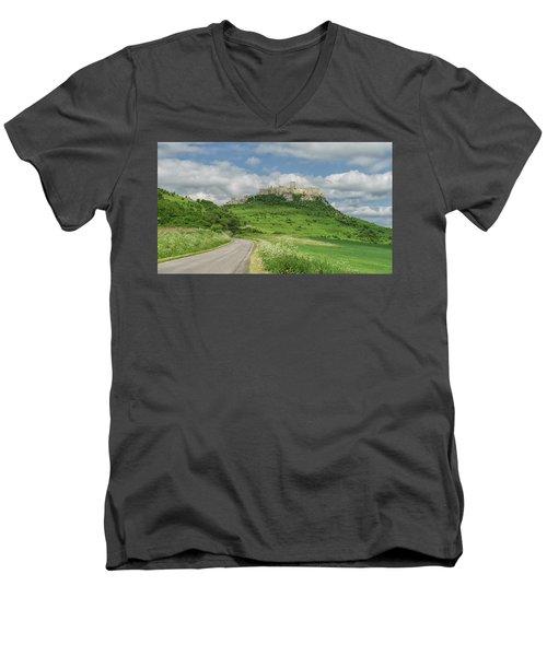 Spish Castle Men's V-Neck T-Shirt
