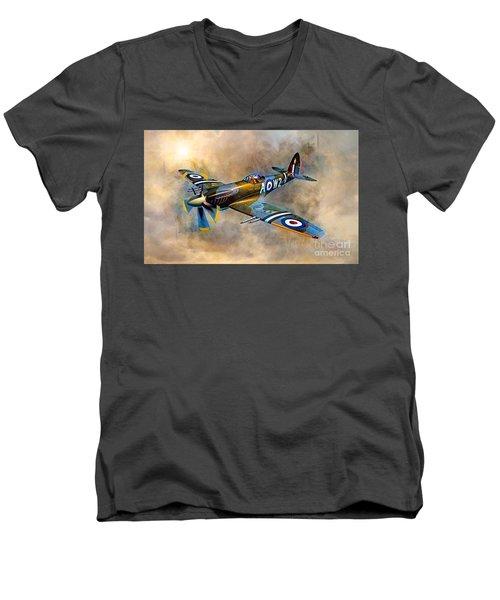 Spitfire Dawn Flight Men's V-Neck T-Shirt