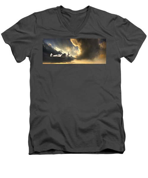 Spitfire Men's V-Neck T-Shirt