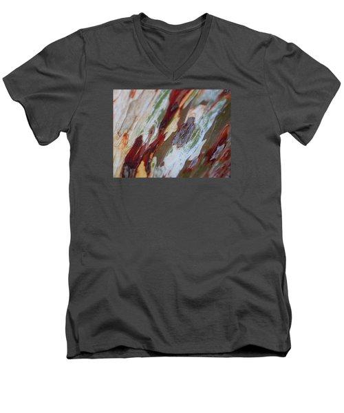 Splash Of Amber Men's V-Neck T-Shirt by Vivien Rhyan