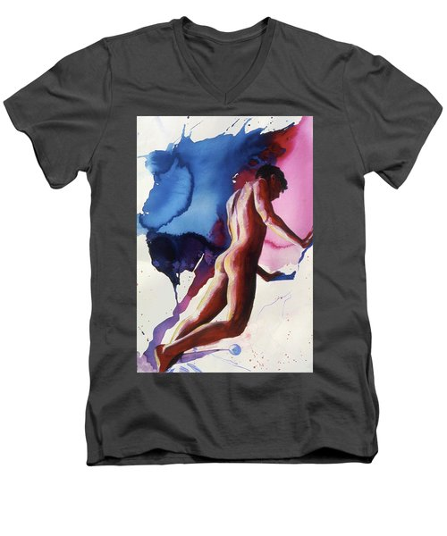 Splash Of Blue Men's V-Neck T-Shirt