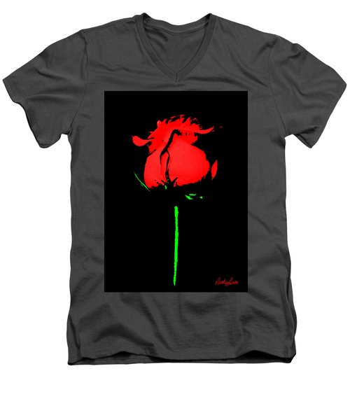 Splash Of Ink Men's V-Neck T-Shirt