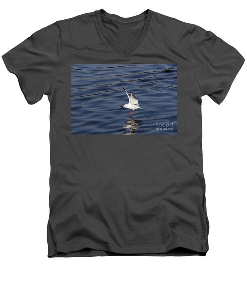 Splashdown Men's V-Neck T-Shirt by Michal Boubin