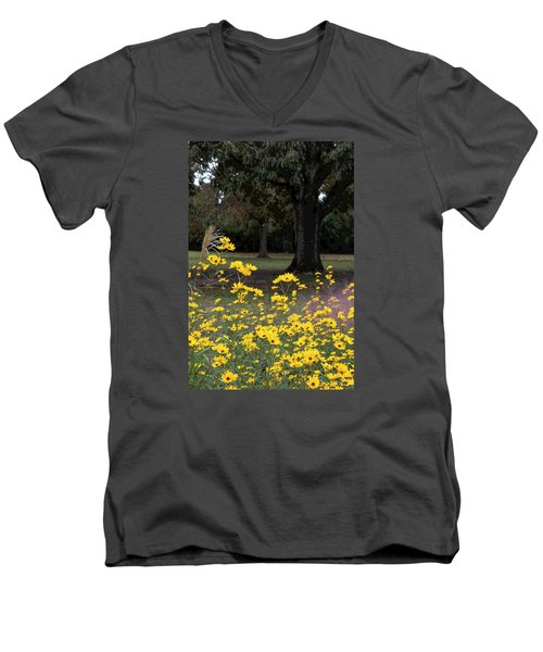 Splashes Of Yellow Men's V-Neck T-Shirt