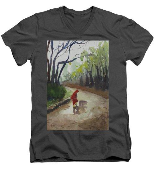 Splashing Men's V-Neck T-Shirt