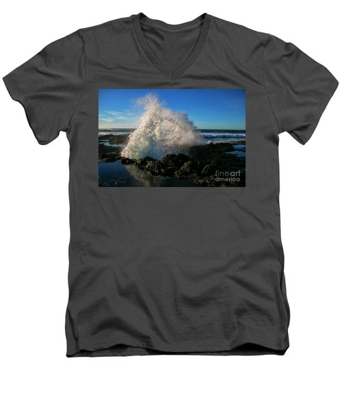 Splashing The Coast Men's V-Neck T-Shirt