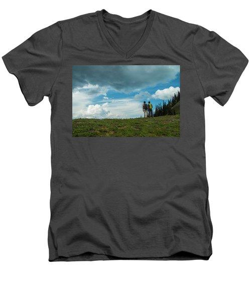 Splendid View Men's V-Neck T-Shirt