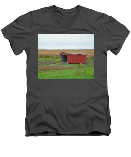 Splinter Covered Bridge Men's V-Neck T-Shirt