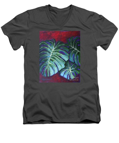 Split Leaf Philodendron Men's V-Neck T-Shirt