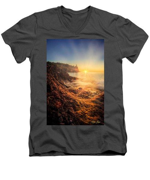 Split Rock Glory Men's V-Neck T-Shirt