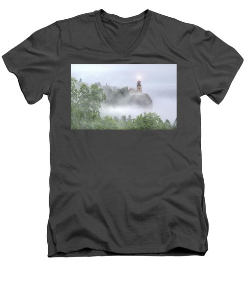 Split Rock Lighthouse Lake Superior North Shore Men's V-Neck T-Shirt