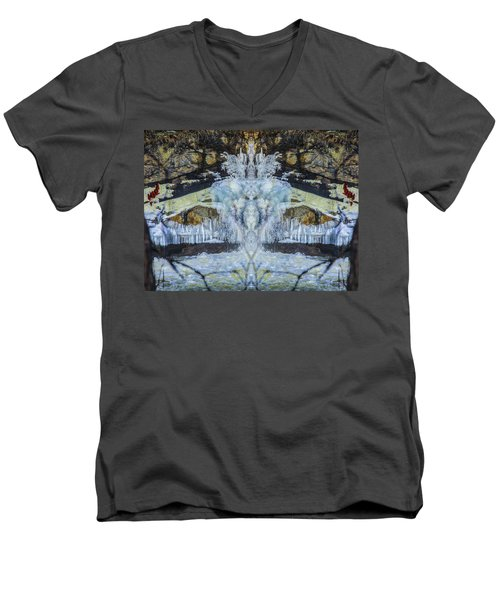 Split The Falls Men's V-Neck T-Shirt