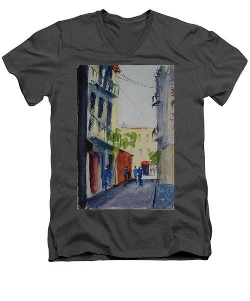 Spofford Street3 Men's V-Neck T-Shirt by Tom Simmons