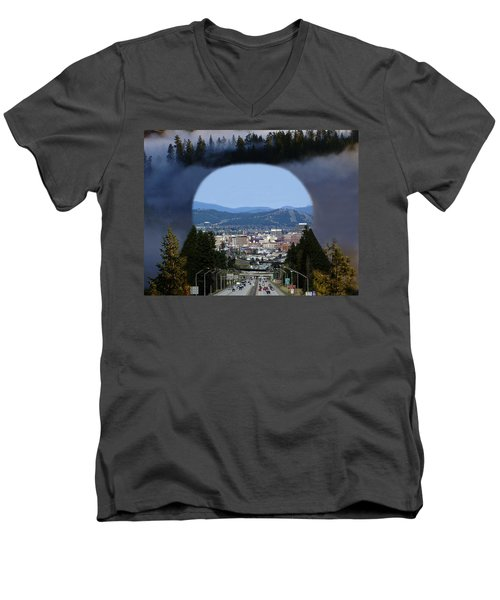 Spokane Near Perfect Nature Men's V-Neck T-Shirt