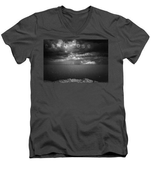 Men's V-Neck T-Shirt featuring the photograph Spoken by Mark Ross