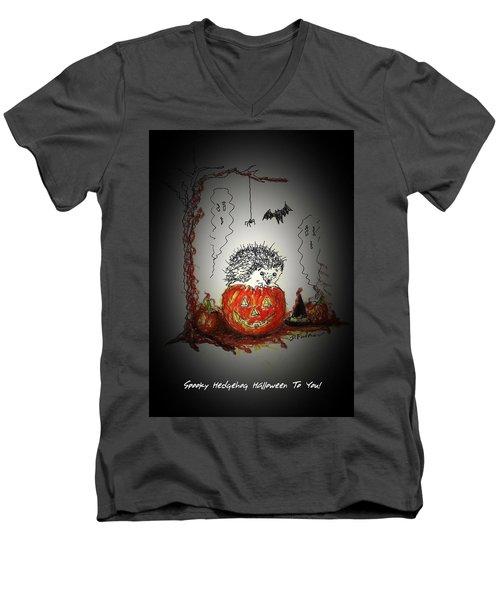 Spooky Hedgehog Halloween Men's V-Neck T-Shirt