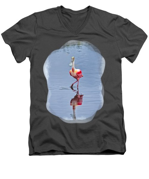 Spoonbill 2 Men's V-Neck T-Shirt