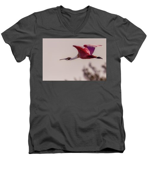 Spoonbill Men's V-Neck T-Shirt