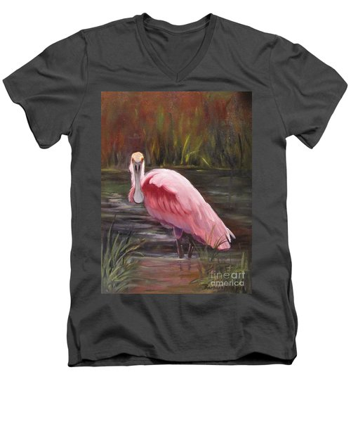 Spoonbill Roseate Bird Men's V-Neck T-Shirt