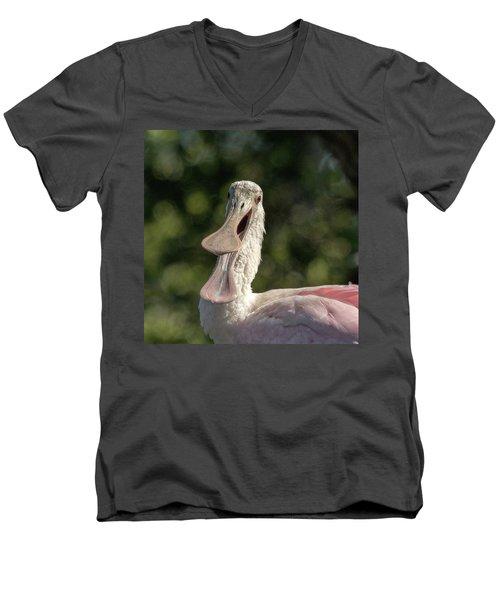Spoonbill Talk Men's V-Neck T-Shirt