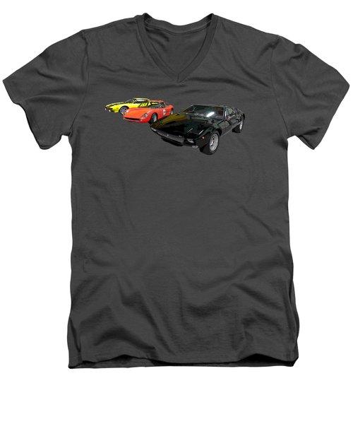 Sports Car In A Row Art Men's V-Neck T-Shirt