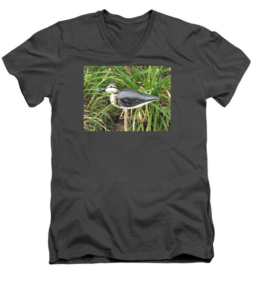 Spotted Sandpiper  Men's V-Neck T-Shirt by Kevin F Heuman
