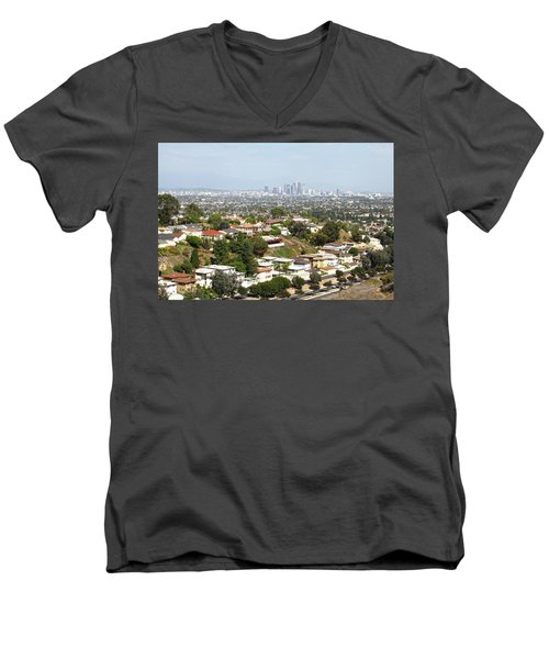 Sprawling Homes To Downtown Los Angeles Men's V-Neck T-Shirt