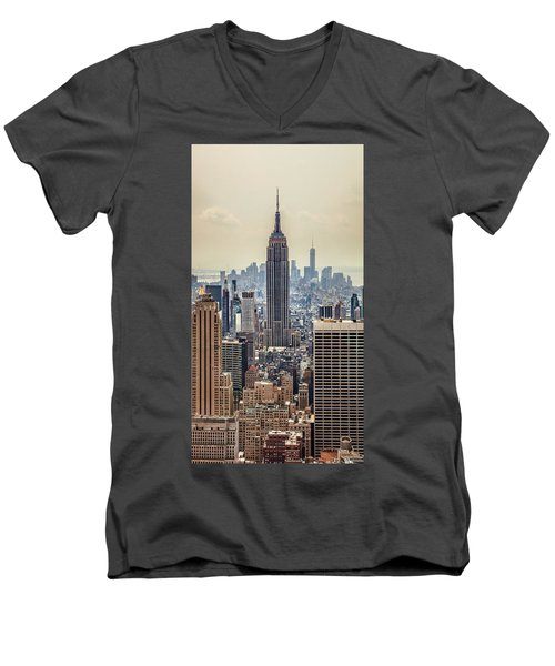 Sprawling Urban Jungle Men's V-Neck T-Shirt by Az Jackson