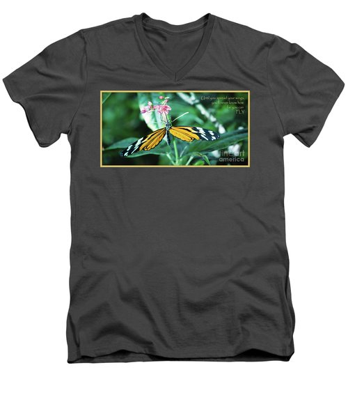 Men's V-Neck T-Shirt featuring the photograph Spread Your Wings by Deborah Klubertanz