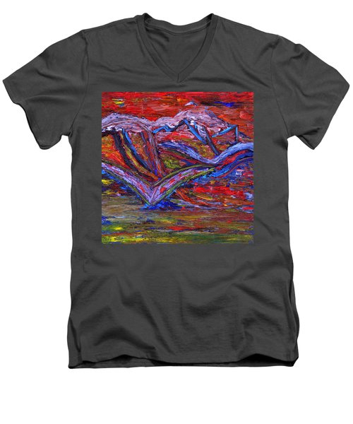 Spread Your Wings Men's V-Neck T-Shirt by Vadim Levin