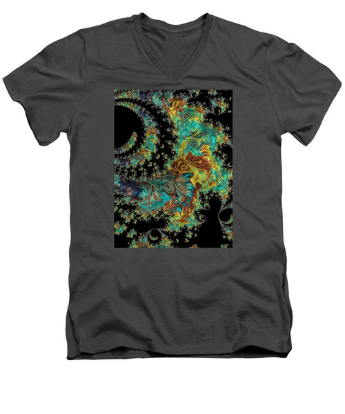 Men's V-Neck T-Shirt featuring the photograph Sprial Galaxy I I by Ronda Broatch
