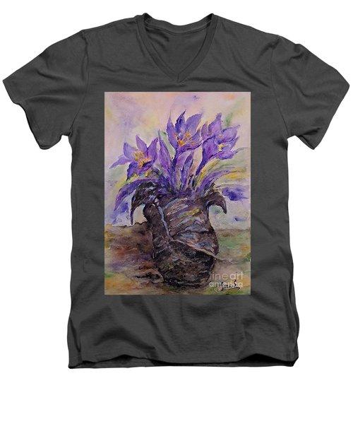 Spring In Van Gogh Shoes Men's V-Neck T-Shirt