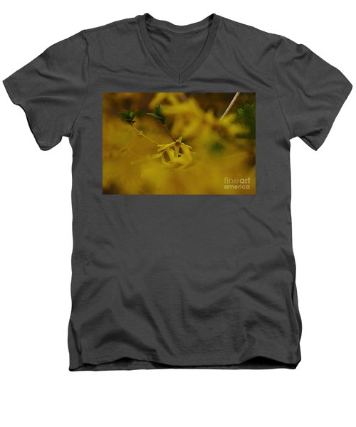 Men's V-Neck T-Shirt featuring the photograph Spring 2016 7 by Cendrine Marrouat