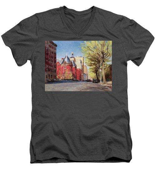 Spring Afternoon, Central Park West Men's V-Neck T-Shirt