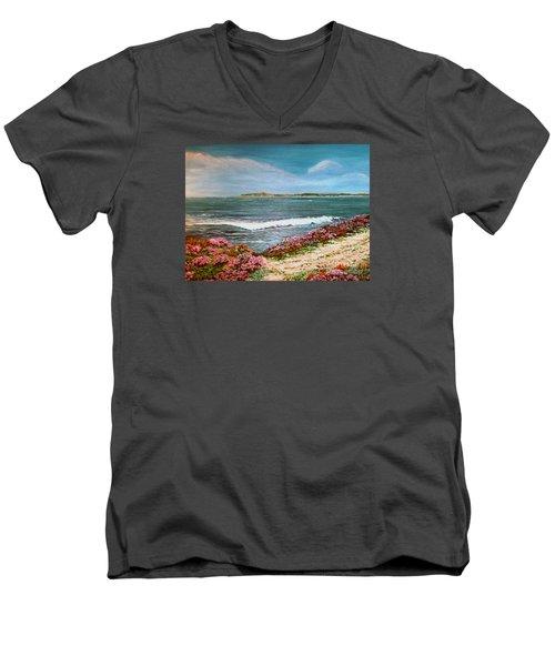 Spring At Half Moon Bay Men's V-Neck T-Shirt by Dee Davis