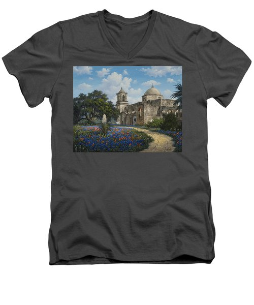 Spring At San Jose Men's V-Neck T-Shirt
