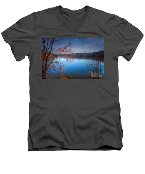 Spring At The Lake Men's V-Neck T-Shirt