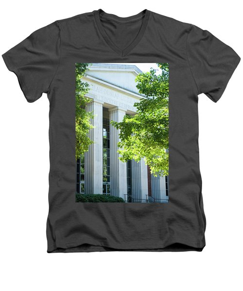 Men's V-Neck T-Shirt featuring the photograph Spring At Uga by Parker Cunningham