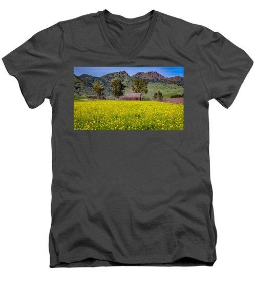 Spring Barn Men's V-Neck T-Shirt