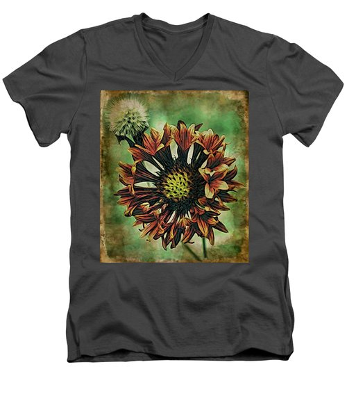 Men's V-Neck T-Shirt featuring the digital art Spring Bloom by Bliss Of Art