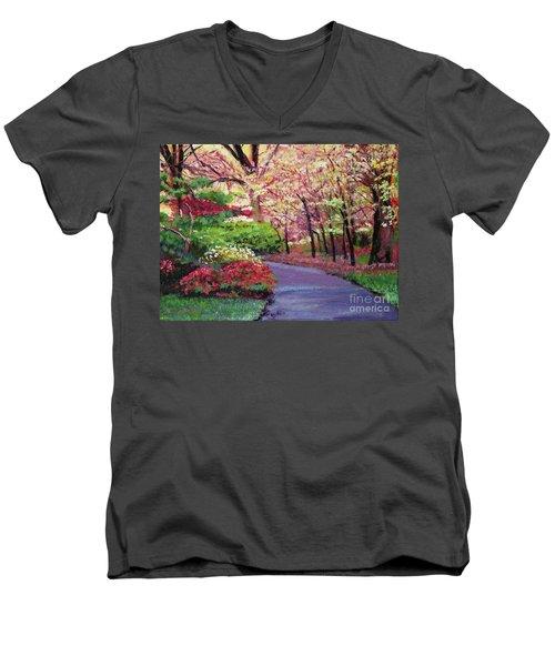 Spring Blossoms Impressions Men's V-Neck T-Shirt