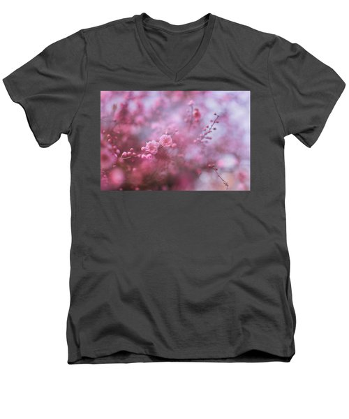 Spring Blossoms In Their Beauty Men's V-Neck T-Shirt