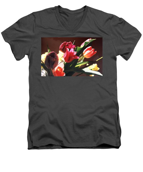 Men's V-Neck T-Shirt featuring the photograph Spring Bouquet by Steve Karol